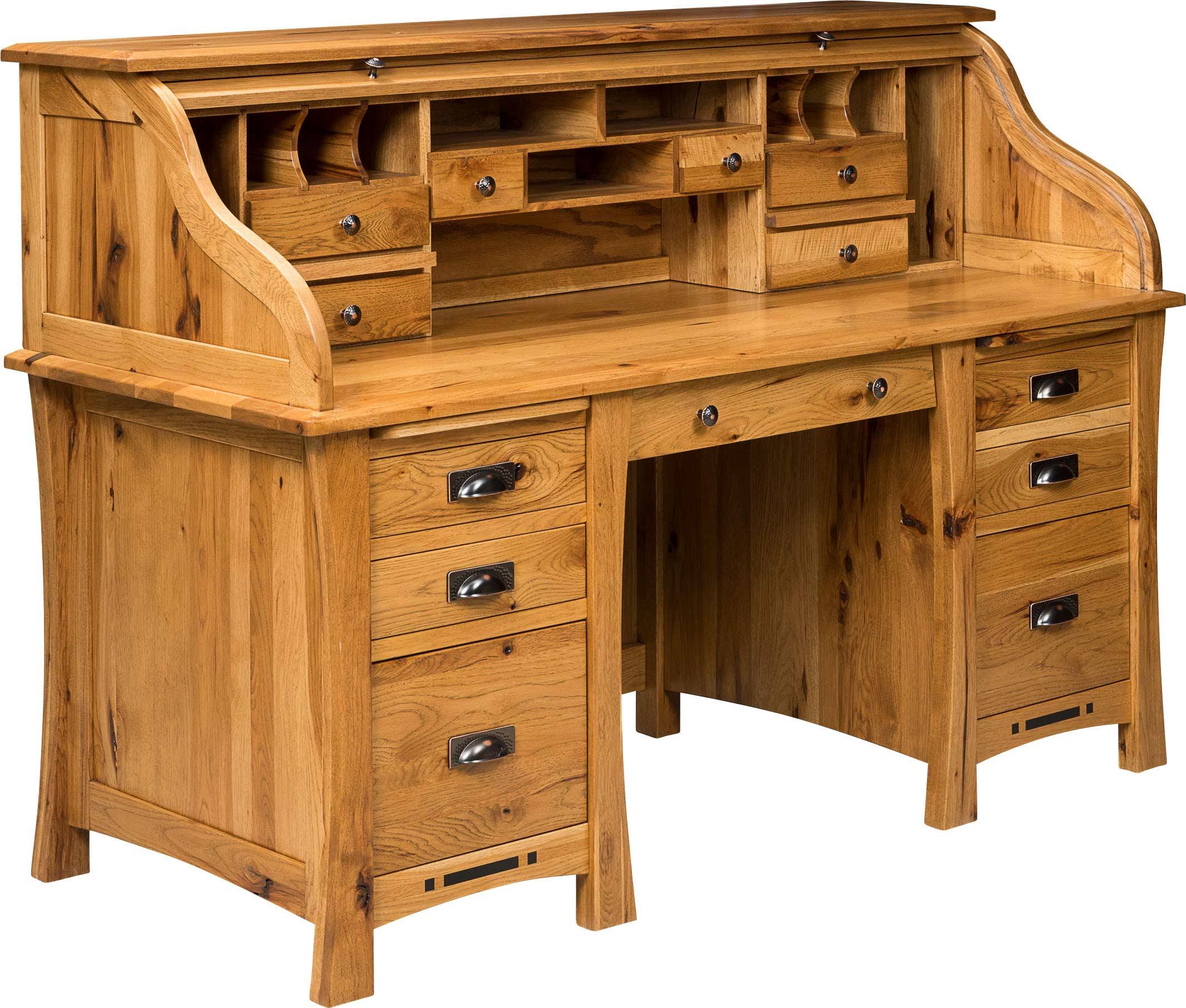 Arts and Crafts Rolltop Desk