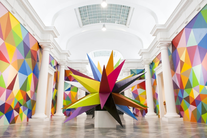 Kaos Star%C2%A0by Okuda San Miguel as shown at%C2%A0The Multicolored Equilibrium Between Animals and Humans%C2%A0exhibition at the Centre del Carme in Valencia, curated by Ink and Movement _ Pic by Elchino Po.jpg