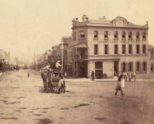 Oxford Hotel, then Johnston's Family Hotel, in 1895!  #oxfordhotel #taylorsquare #dodarlo