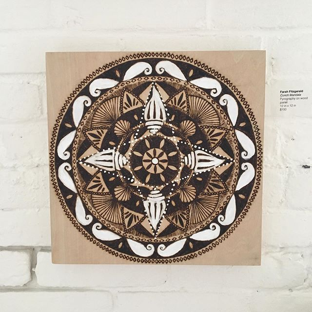 "One of the first pieces from my #woodburning #mandala series. I am aiming for a release and show in late Spring but these pieces take 🕰 so it's still tbd. Starting a 24x36"" panel this week and then a 12x24"". 🤗🔥 #pyrography"