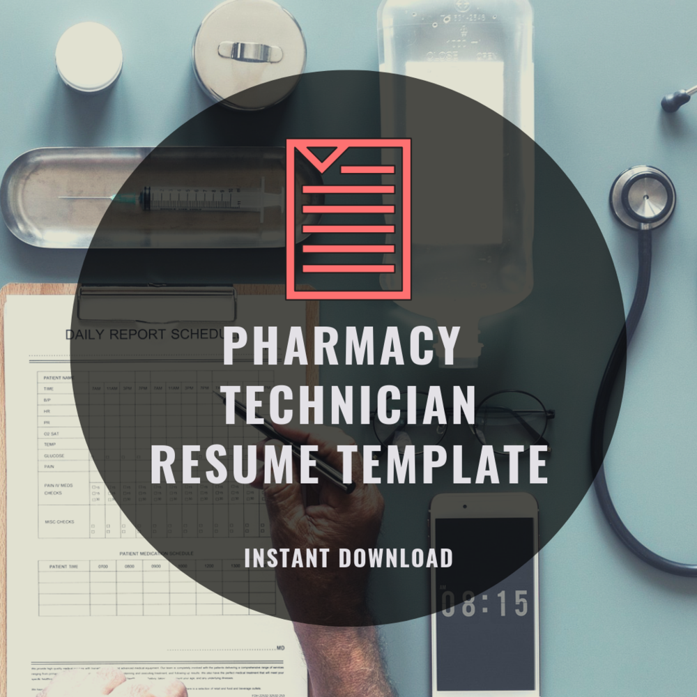 Pharmacy Technician Resume Template - Instant Download — Academy &  Apothecary