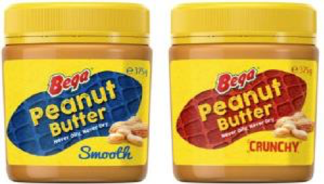 Here is a picture of Bega's peanut butters.