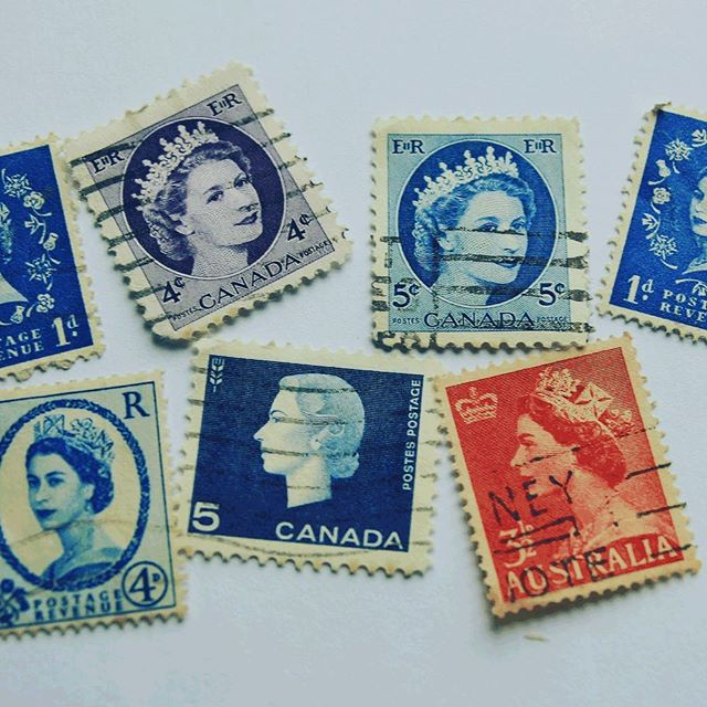 Tiny works of 🖼 art. I love the simple, everyday, postage stamp. If they could speak what would they say of their travels? Email can't hold a candle 🕯 to a hand-written note. #worldtraveler #postagestamps #tinyworksofart