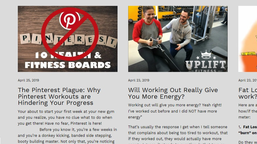 Knowledge = Power - Learn about relevant health & fitness topics on our blog here