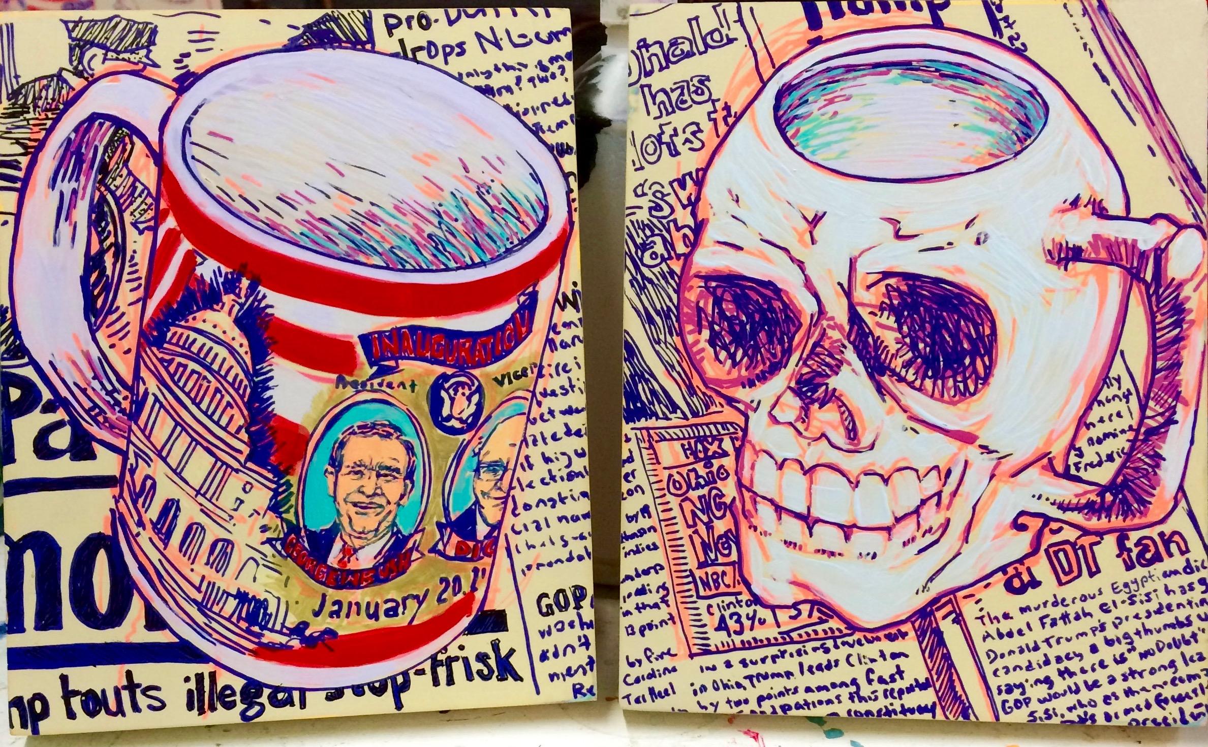 mugs/studies for 'coffee klatch'
