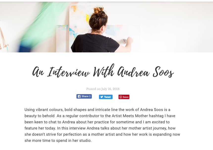 Artist Meets Mother Interview July 2018