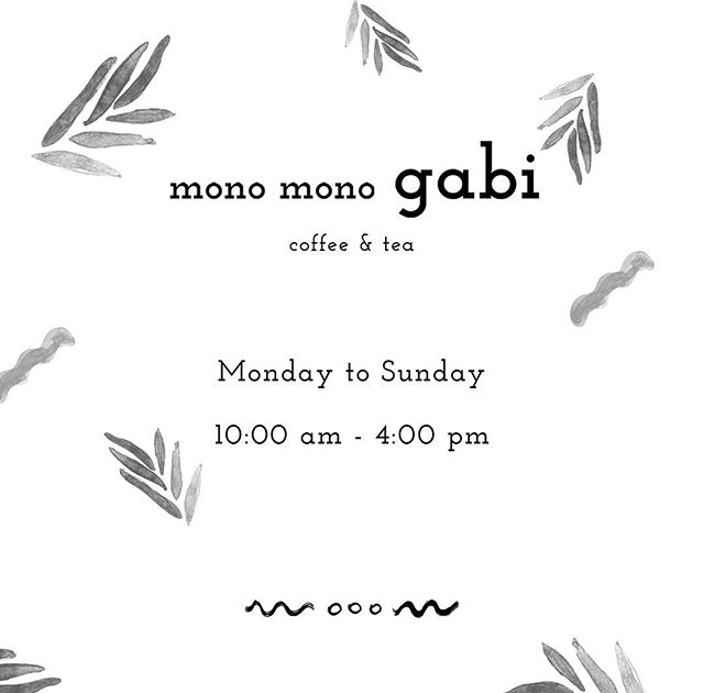 Our open hour has changed! From Monday to Sunday 10:00am~4:00pm ☕️