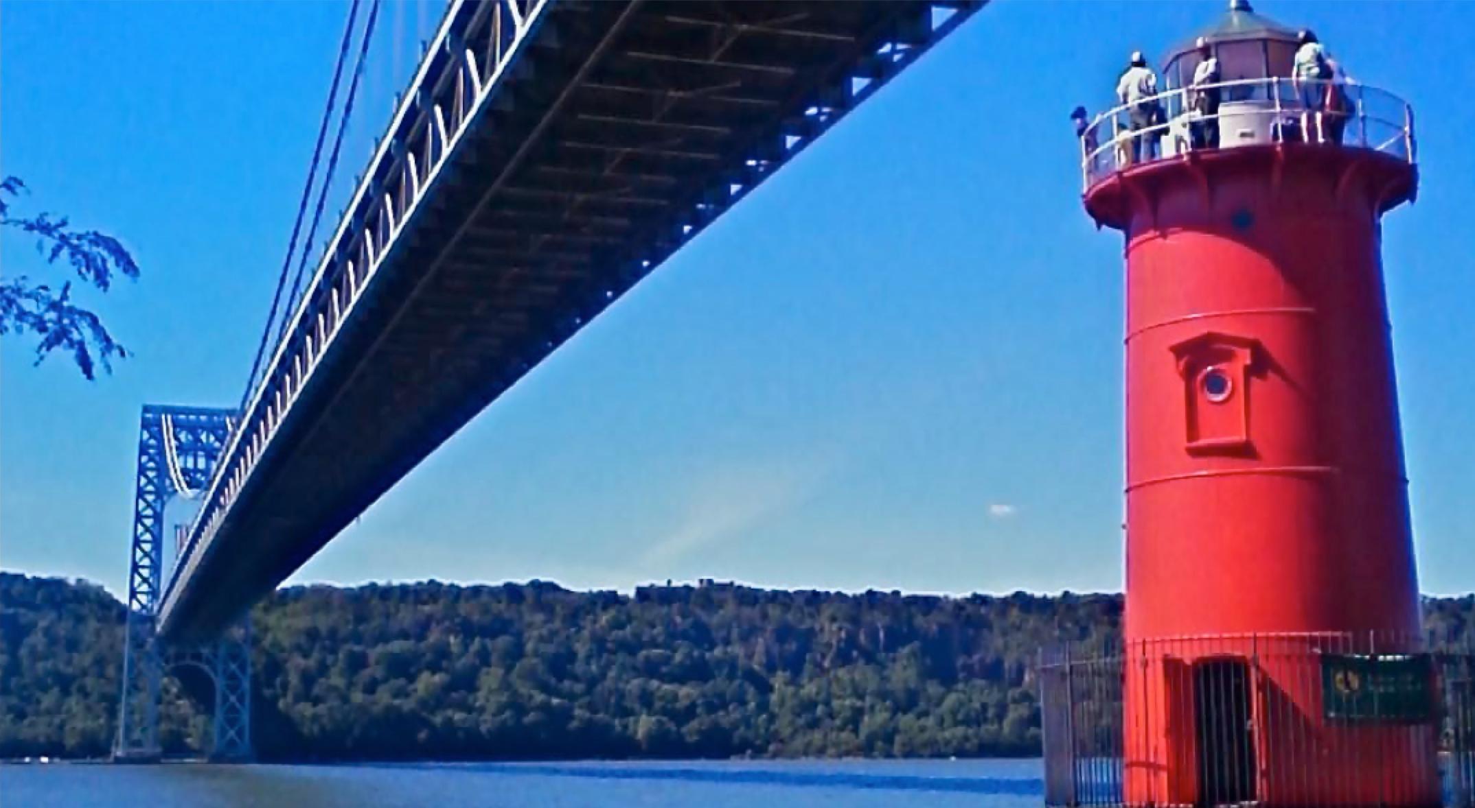 Little Red Lighthouse, under the George Washington Bridge, New York City.