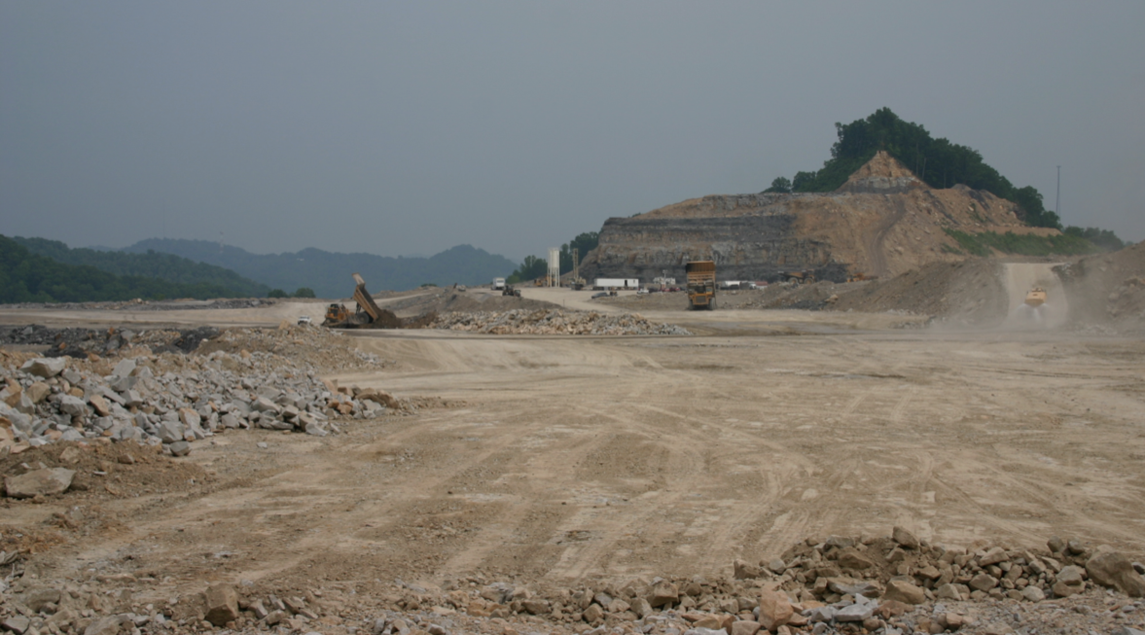What's left of a mountain near River's house. To find out more about mountaintop removal, visit I Love Mountains.