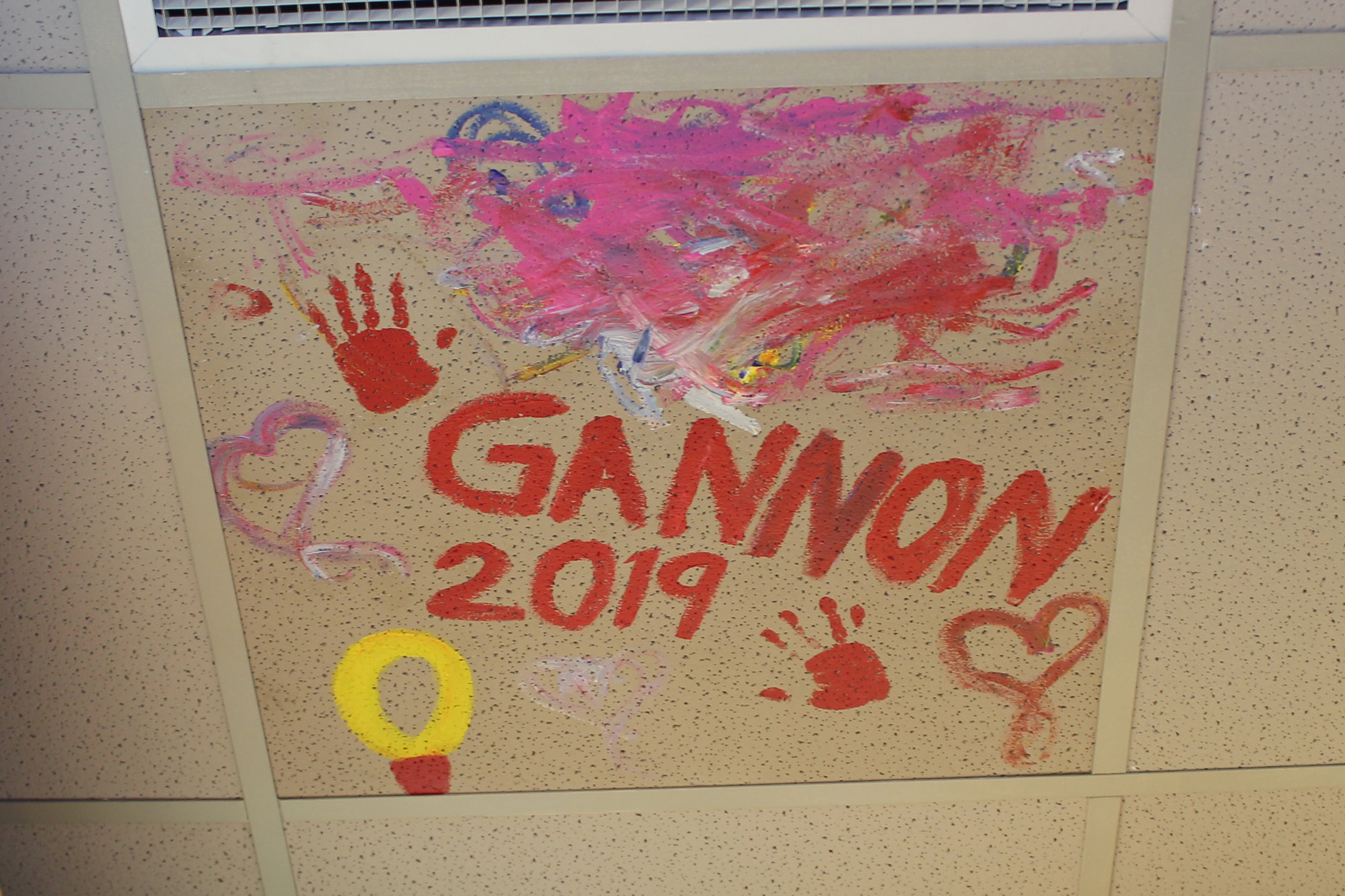 Gannon's final artwork at DQ