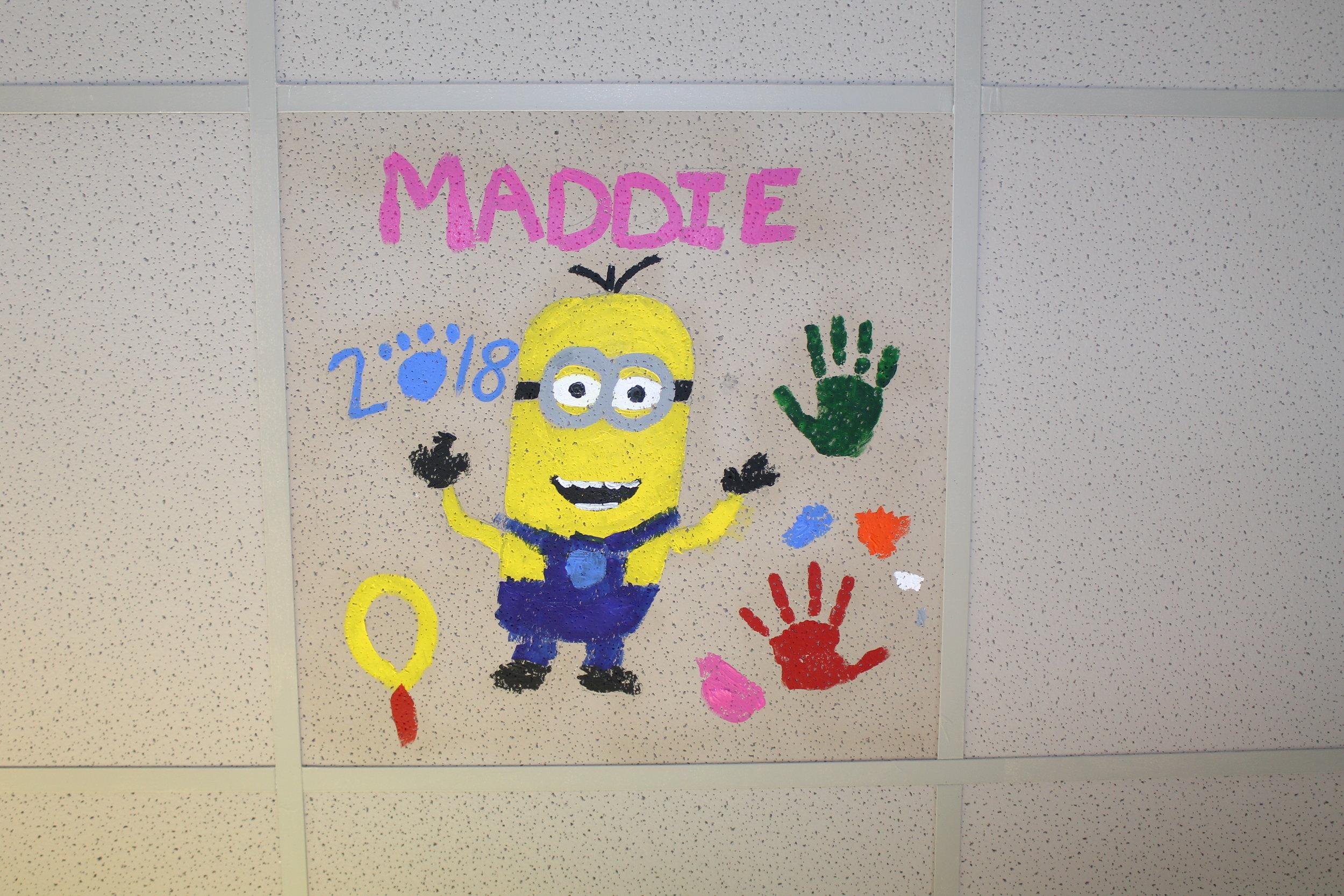 Maddie's final tile artwork