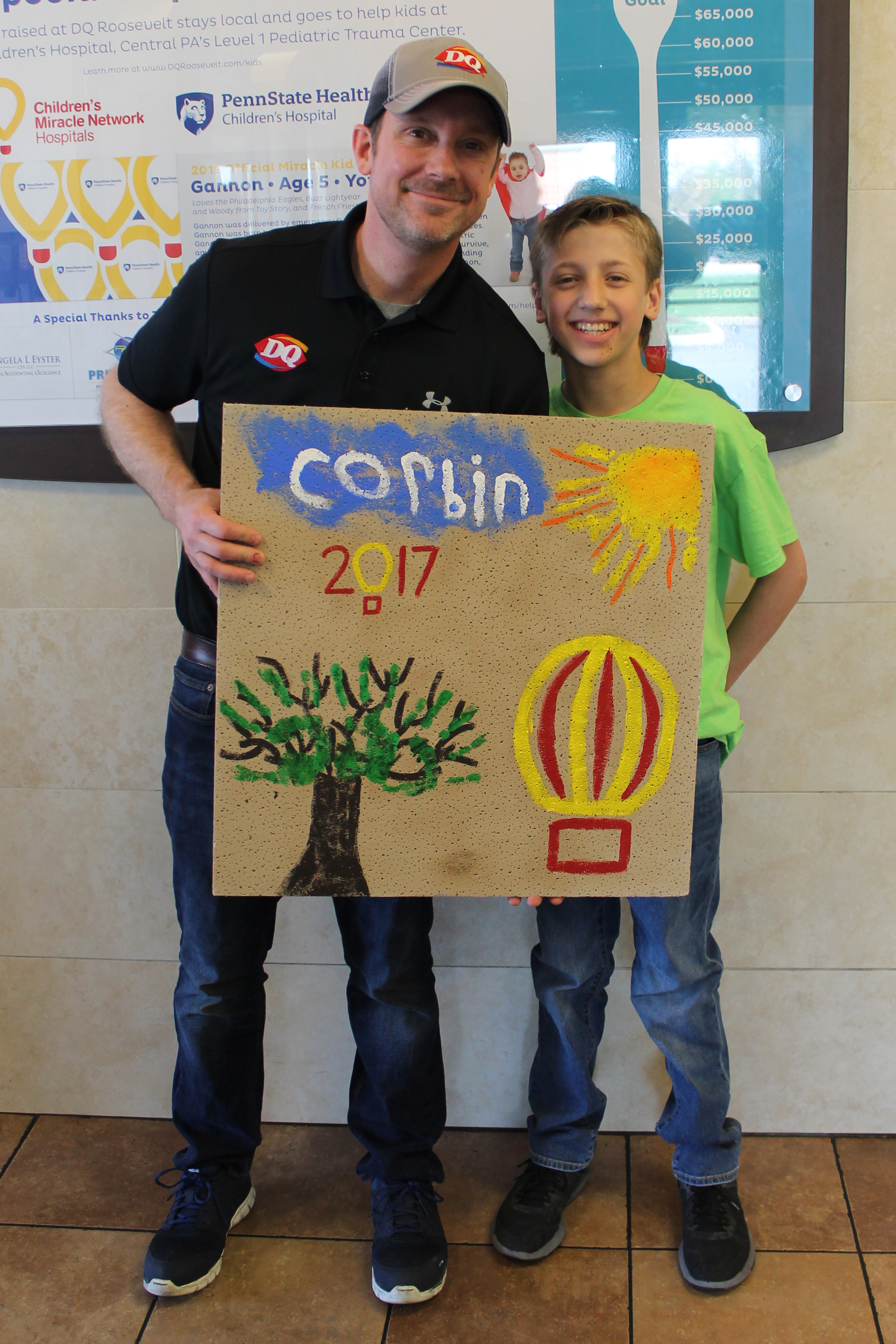Corbin with John Miller from DQ. Corbin is a fighter, beating all odds as a baby, and now continuing to grow into an amazing man!