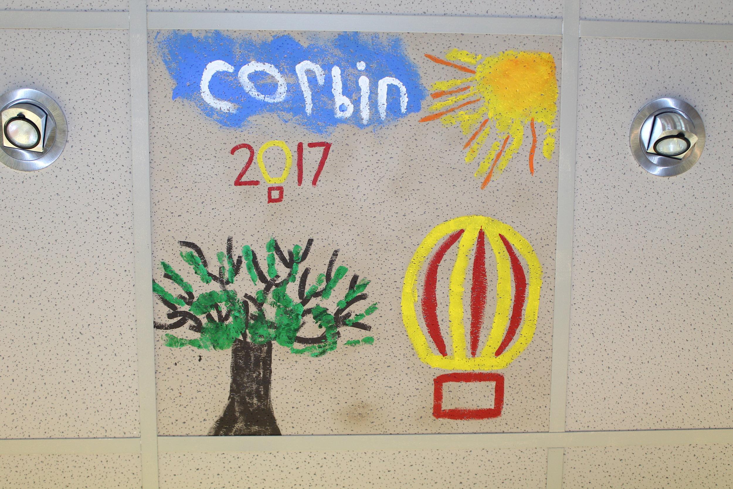 Corbin's final artwork at DQ