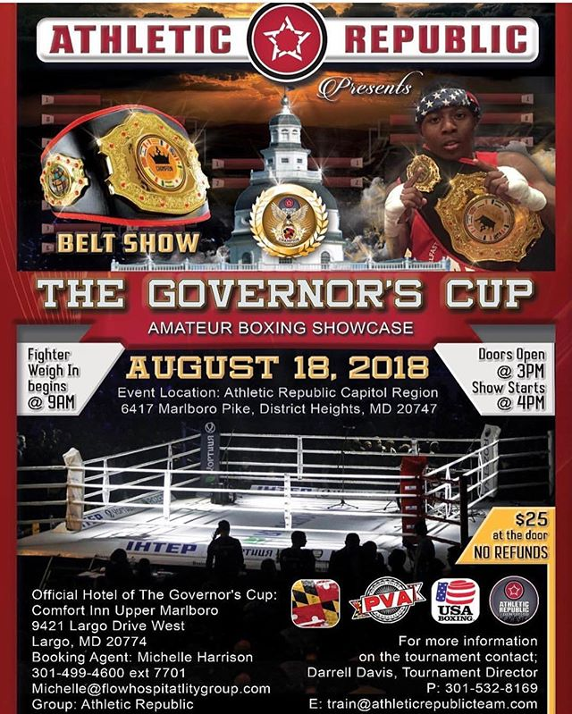 This Saturday! Join @arcapitolregion for #TheGovernorsCup boxing showcase! Doors open at 3pm. Fights begin at 4pm. Tickets $20 in advance & $25 at the door.