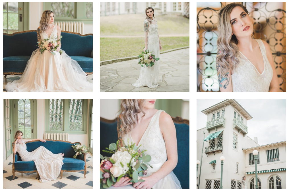 View More - Vendors: Laguna Gloria, BHLN Wedding Dresses @BHNL, Alexis Katherine Photography, Harper Blankenship Photography, Delighted and Styled Photoshoots, Calligraphy @daniellewilliamscalligraphy, Floral @blantonfloral, Hair & Makeup @simplebeautyartistry, Rentals @scavengedvintage