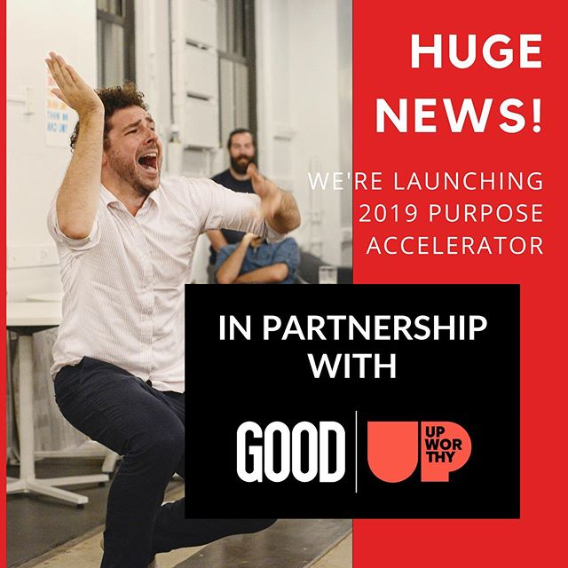 Today, we are incredibly proud and excited to announce our partnership with @goodhq | @upworthy, the global media brand and social impact company. Together, we share an unwavering belief that helping people unlock their unique potential in the world is one of the greatest ways we can transform it. Thanks to our collaboration, we're announcing 3 new Purpose Accelerator programs – in NYC, Boston and a virtual one with a kickoff weekend in Chicago. We're also rolling out our virtual Get Unstuck Lab – a live, virtual workshop series beginning mid-July designed to help you get past the obstacles that hold you back. . To date, we've been building and leading purpose-focused programs to help audiences in NYC get inspired, get engaged, and get changed. This partnership is the next step to move us closer to our mission of helping one million people build more purposeful careers and lives. Learn more via the link in our bio and join us! #yourpurpose #yourprojectx #upworthy #partnership