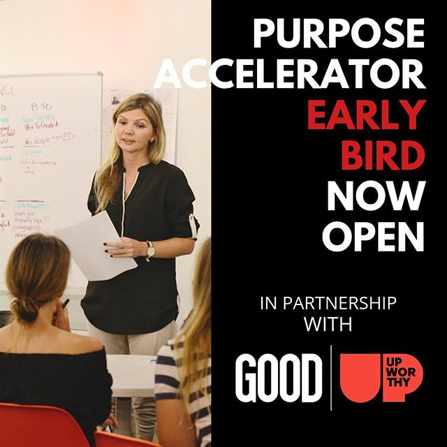 "If you're feeling stuck or uninspired in your job this Monday and wondering what you should do next, we have some news for you! Early bird applications for our 8-week Purpose Accelerator in NYC (in partnership with @goodhq | @upworthy) are now open!  During the 8 weekly sessions, we'll bring structure, a safe space and a community for you to successfully navigate the shift toward a more purposeful career. As one of our past participants put it, you ""call into question every robotic message you've ingested throughout your entire life about the life we are supposed to lead."" We've only got room for 30 people. Get details and apply today via the link in our bio! #yourpurpose #yourprojectx #tgim"