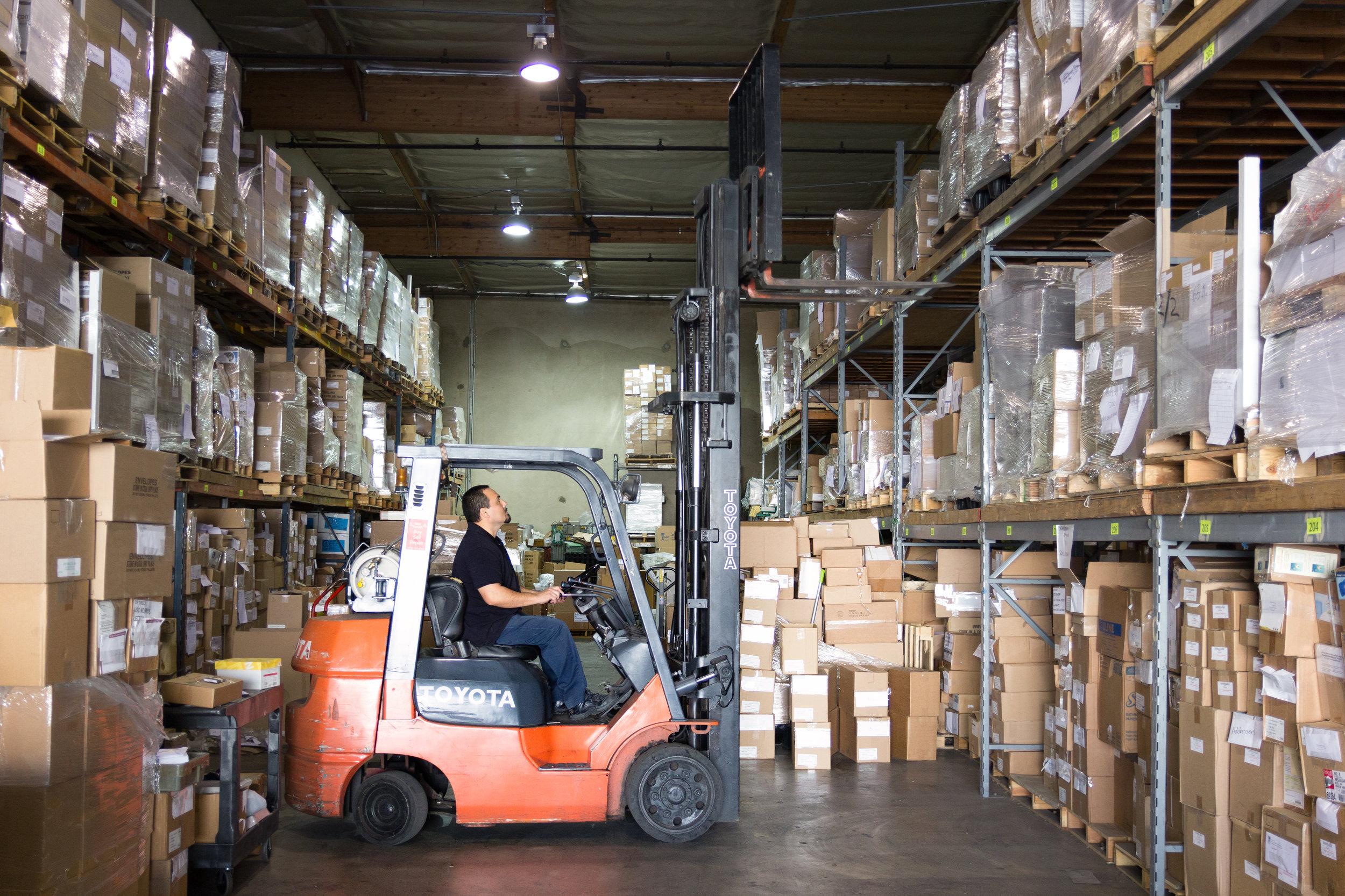 Secure, clean warehouse storage in Los Angeles