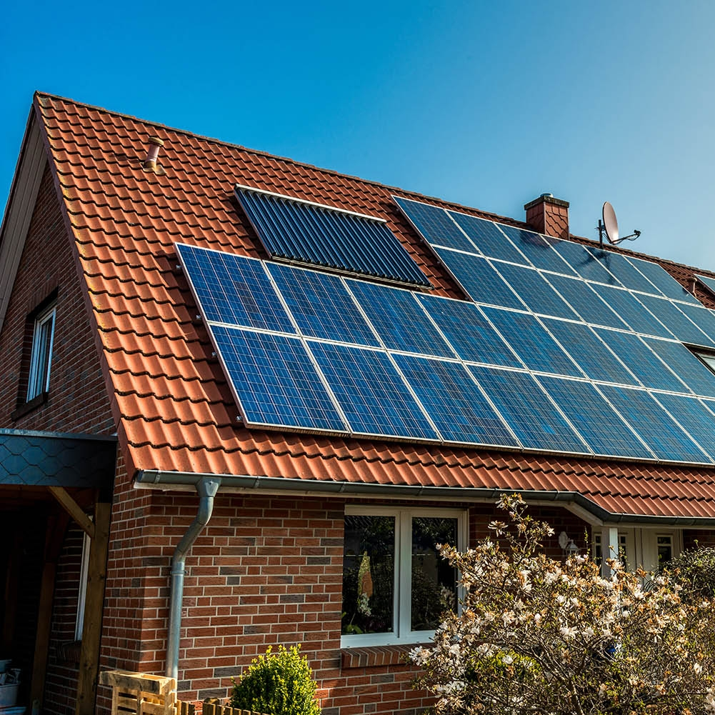 Solar panel cleaning -