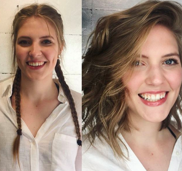 (14)blonde lob textured bob before and after choppy bob.png
