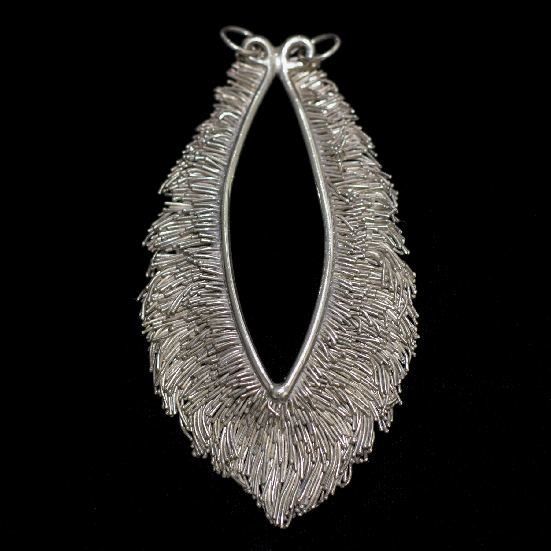 """Untitled"" by Michael Malpass, circa 1973-74. silver jewelry. (photo: Tina Collella)"