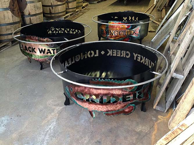 Custom Engraved Fire Pit