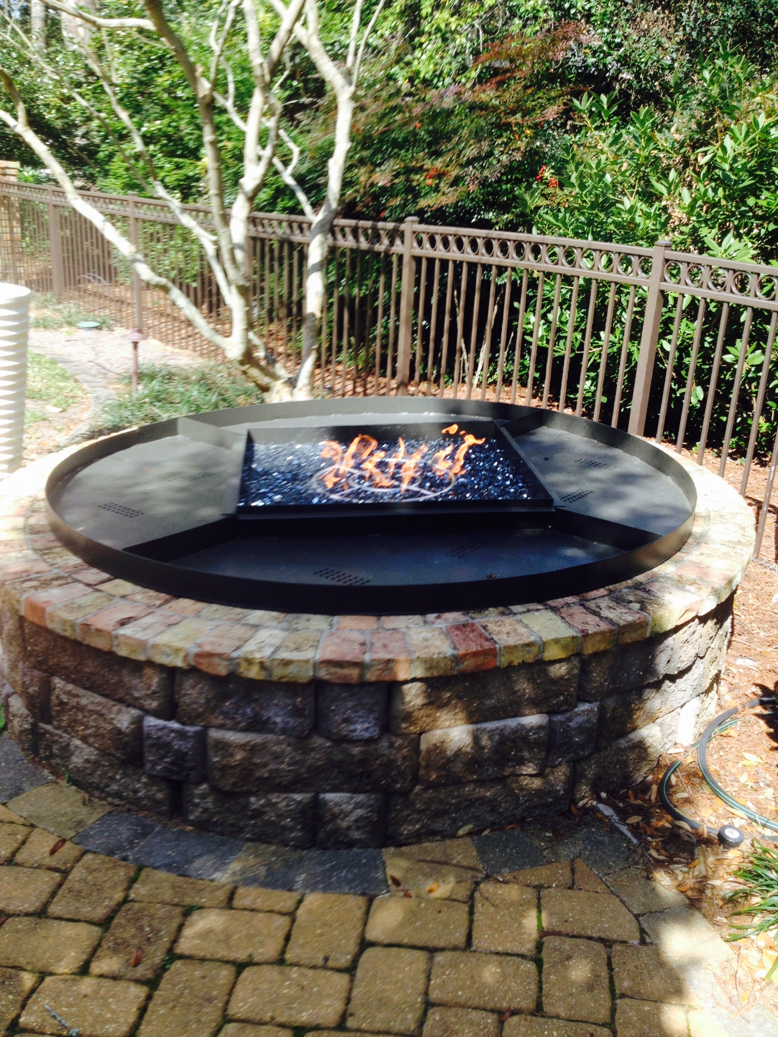 Inlayed Fire Pit in Brick, Custom