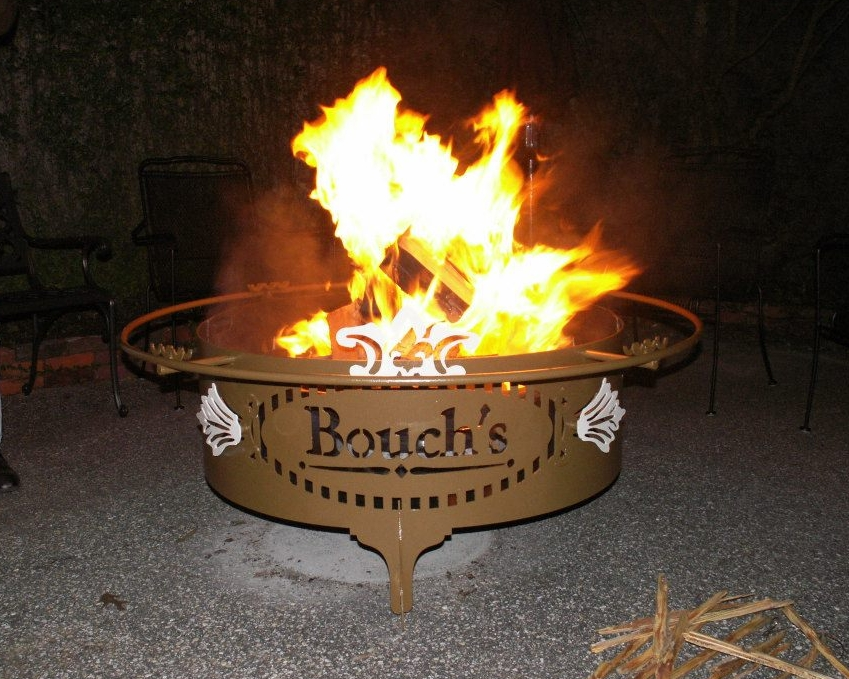 Custom Fire Pit, Engraved