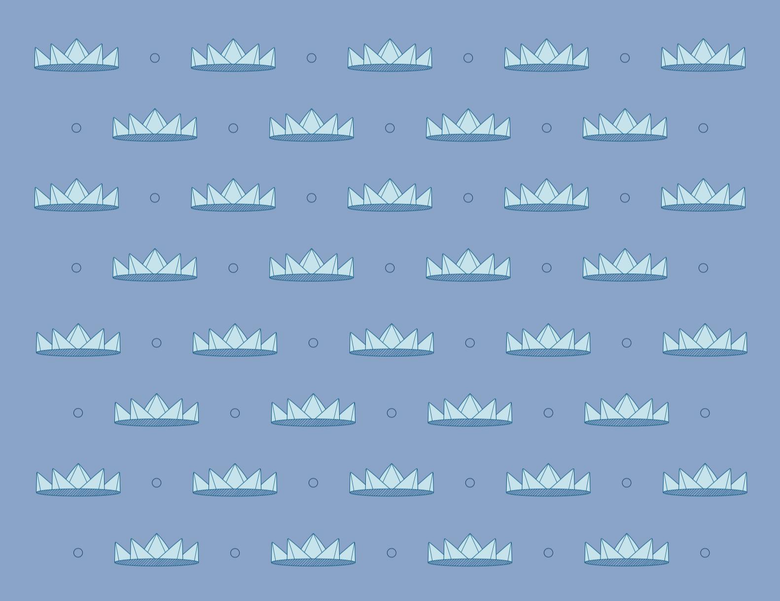 visual elements : crown pattern