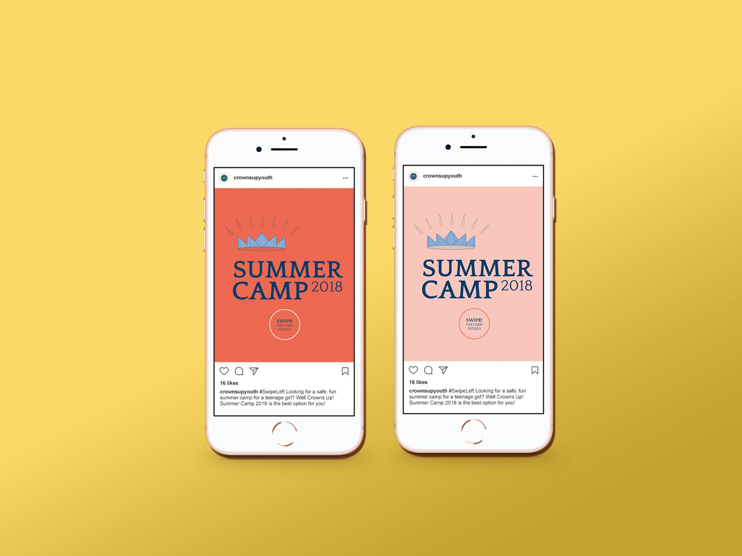 social media summer camp posts