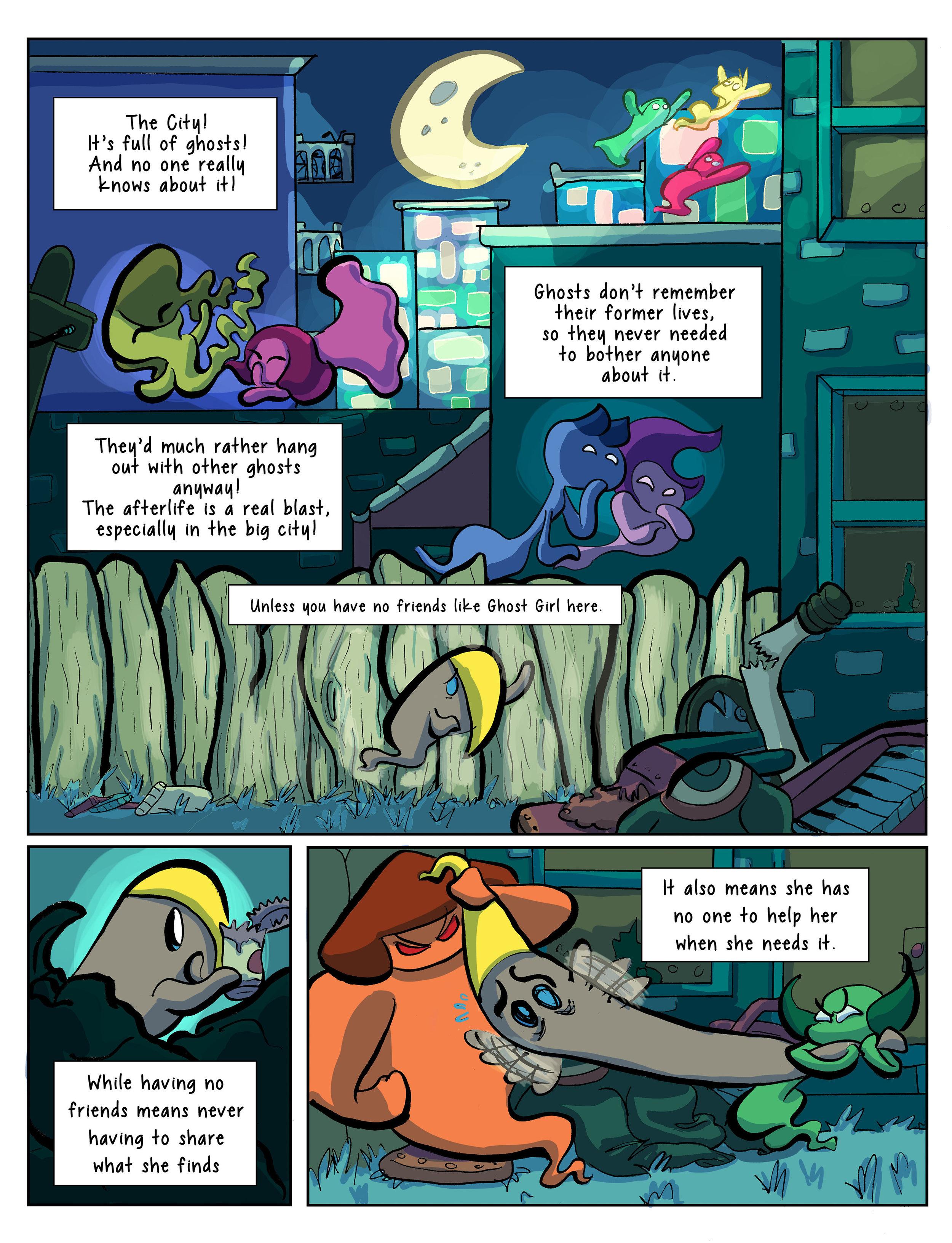 Super Ghost Girl pg 1