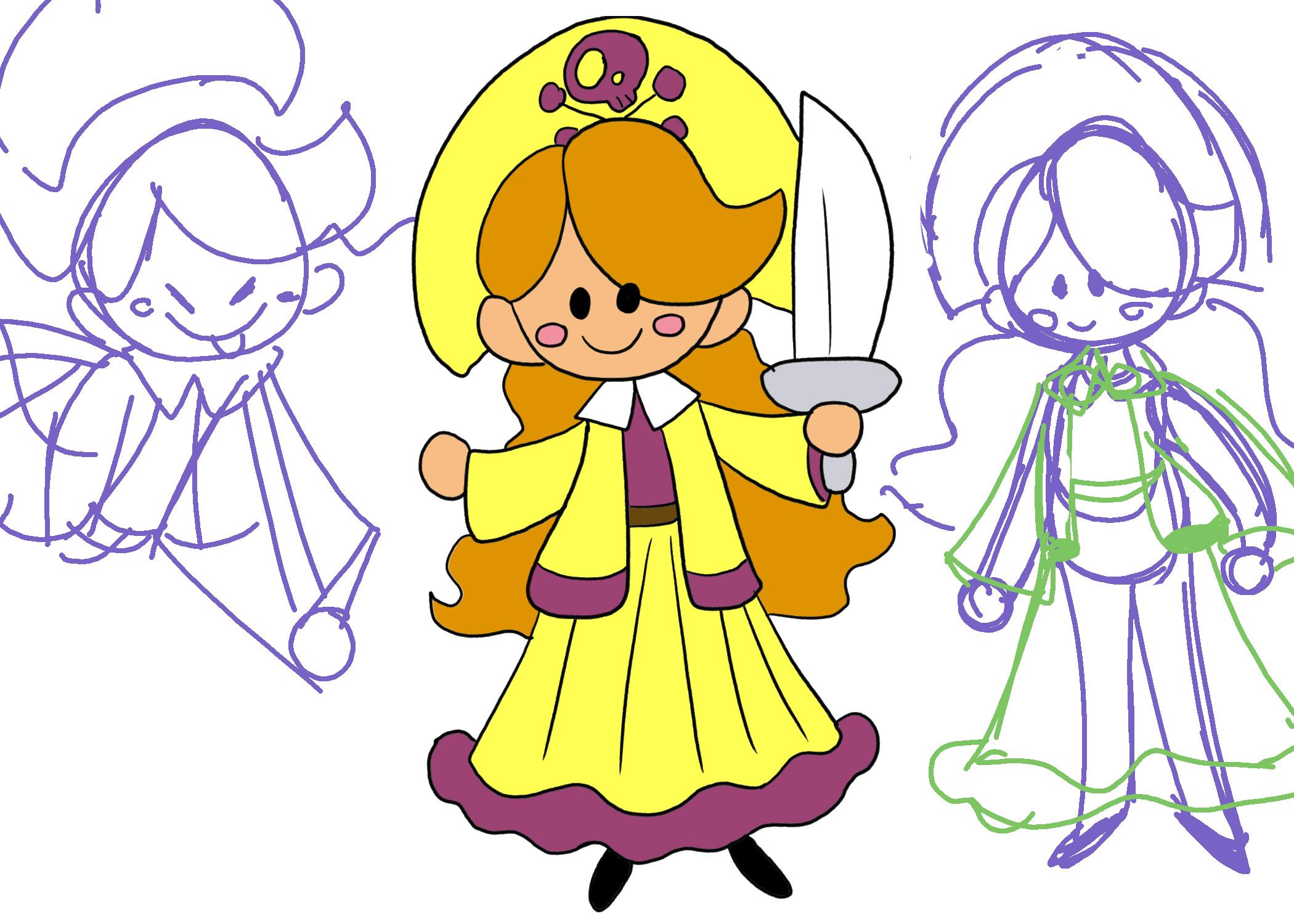 RH Pirate Girl Concept Art