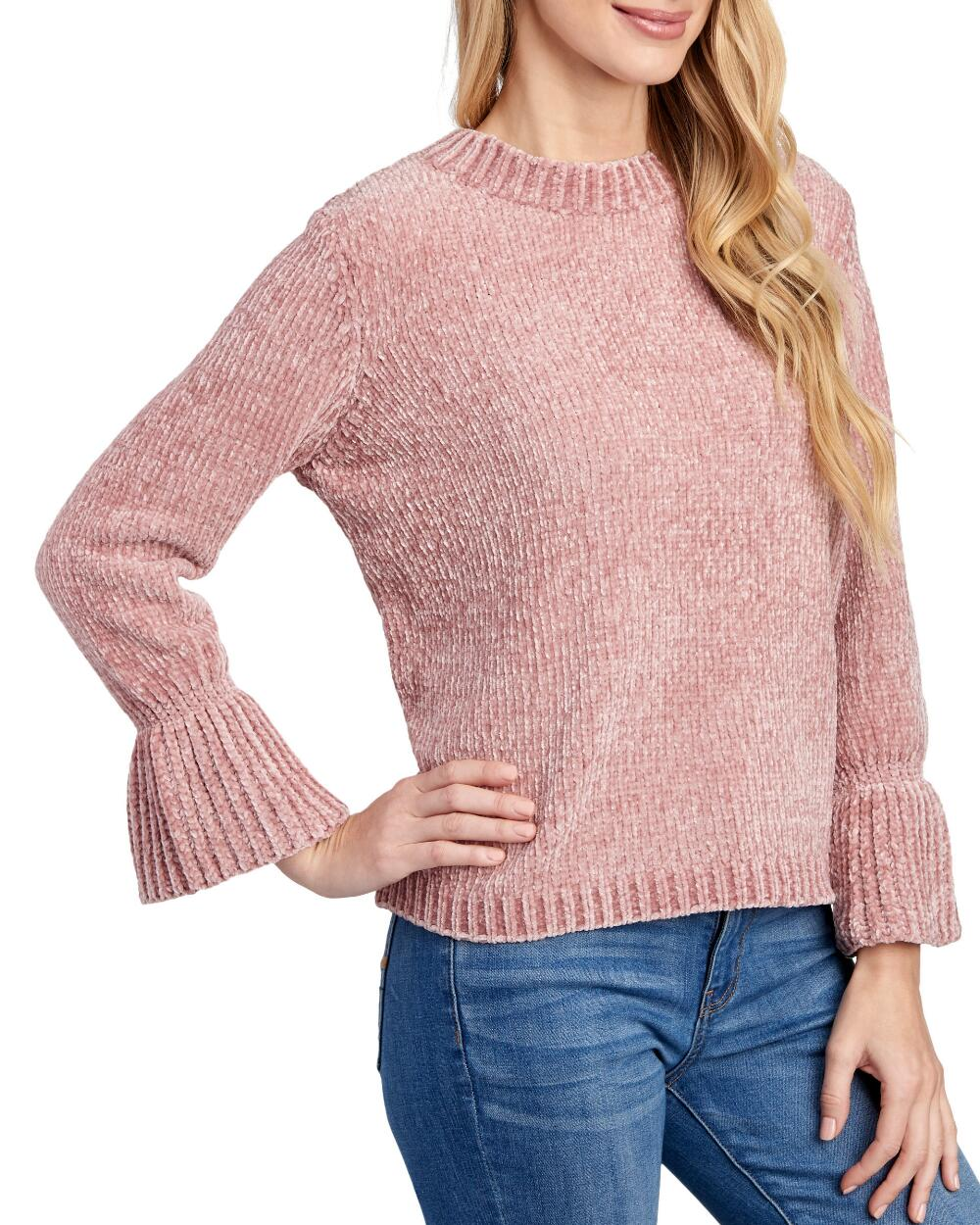 Petite Chenille Knit Bell Sleeve Sweater