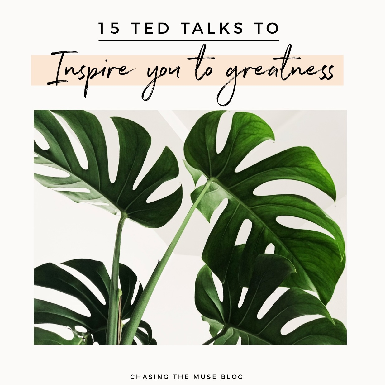 15 Ted Talks To Inspire You To Greatness-Chasing The Muse Blog