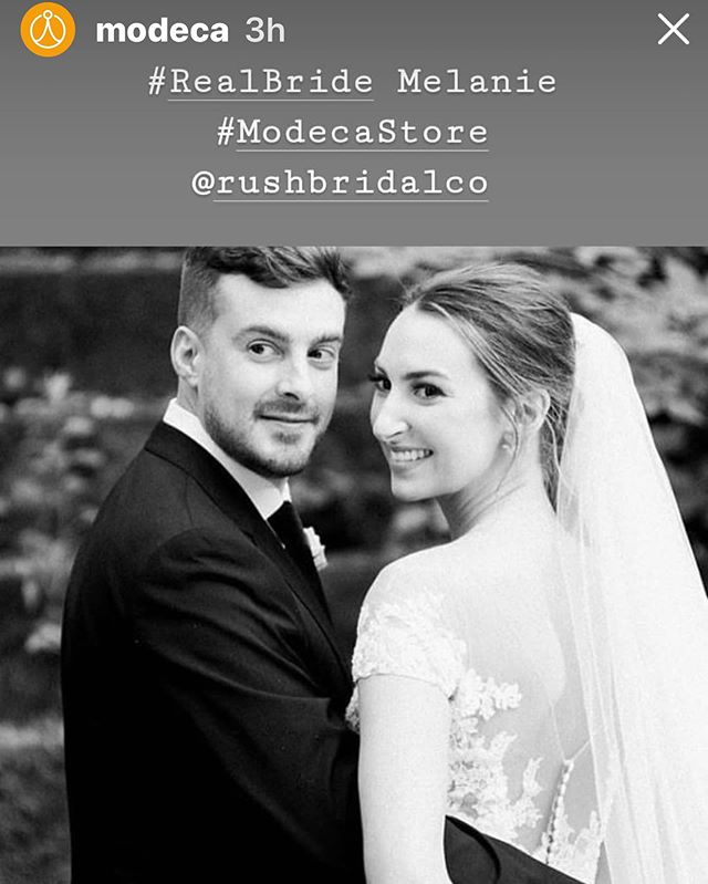 When your bride is so beautiful the designer features her 💗  Thank you Modeca ... #rushbridalco #leesvillesc @melanieleathw