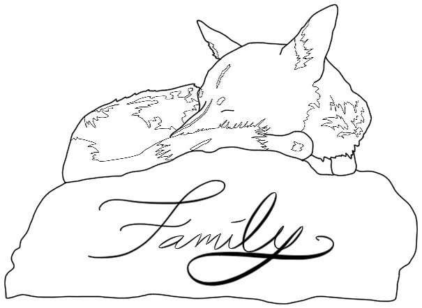 Everyone's looks different. Be grateful for the time you have with those you love. . . . . . . #family #illustration #artistsoninstagram #blackandwhite #lineart #petportrait #portraits