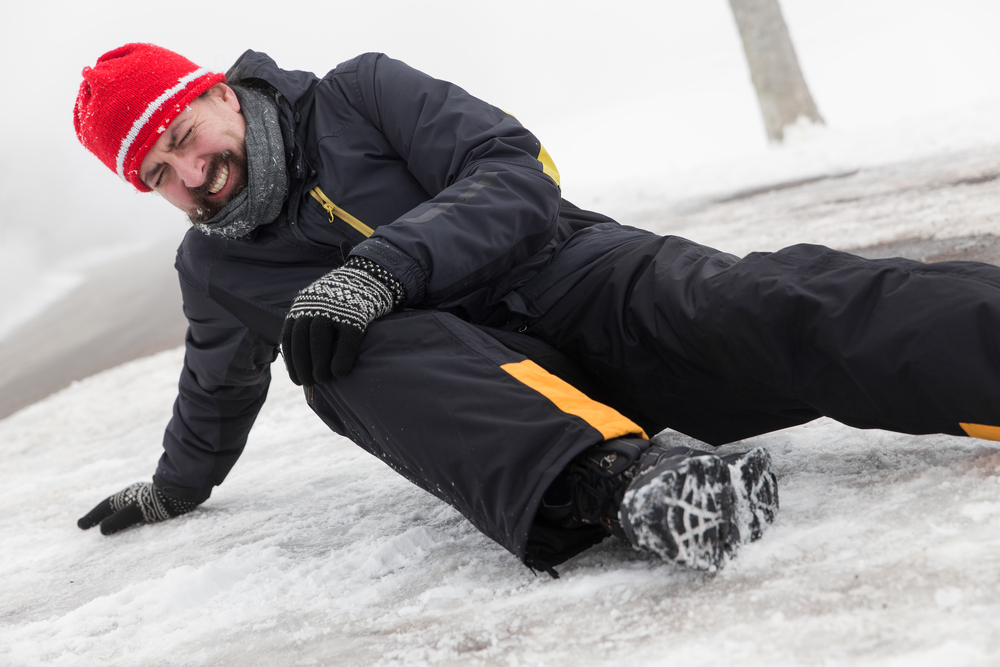A man slipped on Ice
