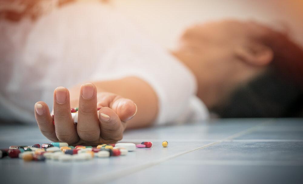 Medicine Overdose Death Concept