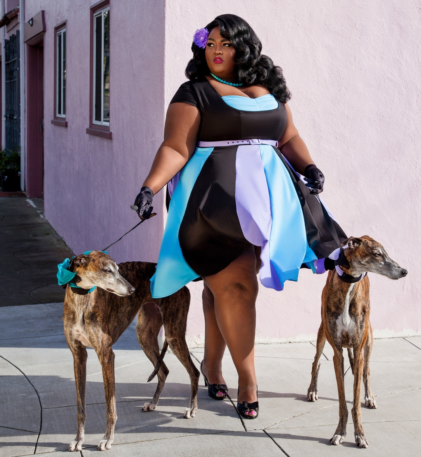 """Saucye West - Saucye West (she/her) is your self-proclaimed """"Favorite Fat Girl""""She began modeling in 2010 for Full Figure Entertainment and transitioned into runway shortly after. She quickly began making a name for herself because she was often used by indie designers as one of the only visibly fat models over a size 26Saucye is also a proud fat activist that uses her platform to show radical self love. Constantly trying to bridge the gap between the fat positive and body positive worlds.In 2017 she launched he campaign for the hashtag #fatandfree which let women declare that they were going to love their bodies without apology and show this on social media. Now this hashtag is a mantra and a movement.@saucyewestwww.facebook.com/saucyewestplusmodelwww.saucyewestplusmodel.com"""