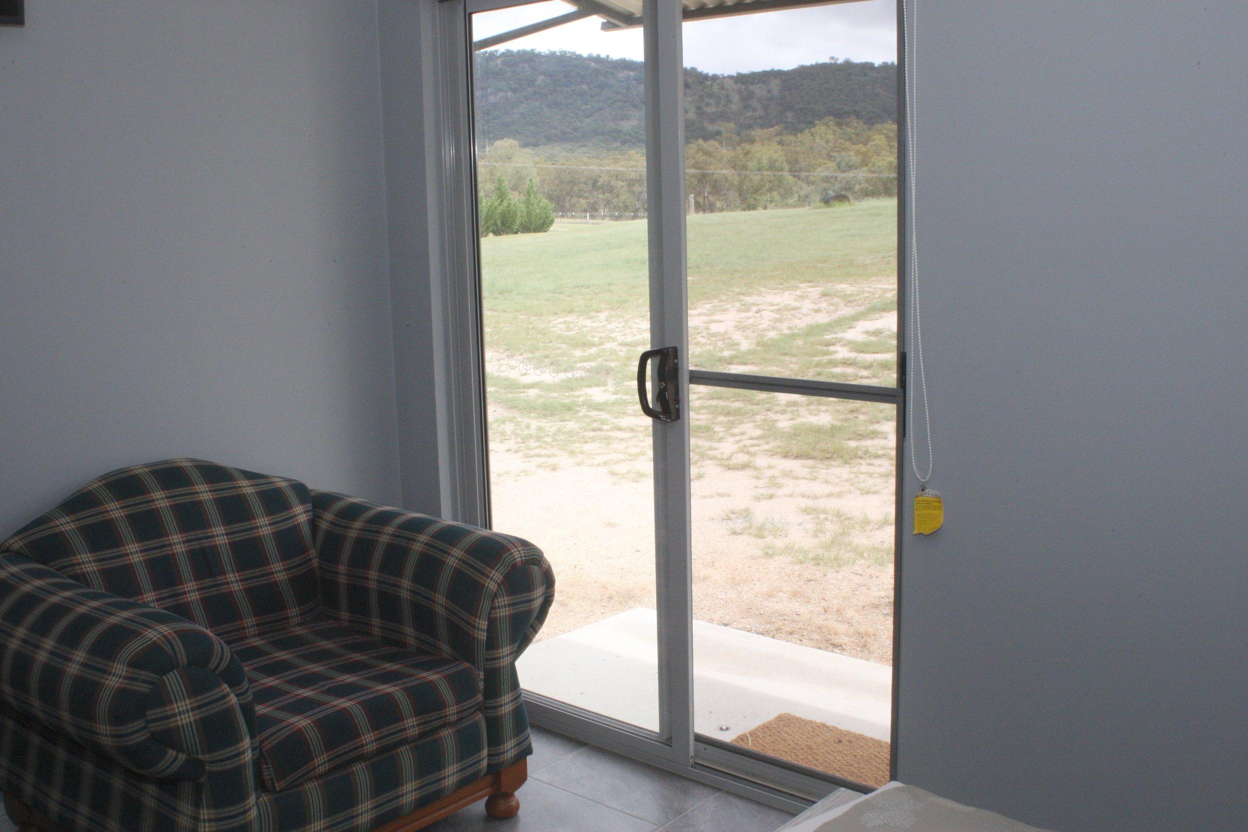 Sliding Door from Bedroom