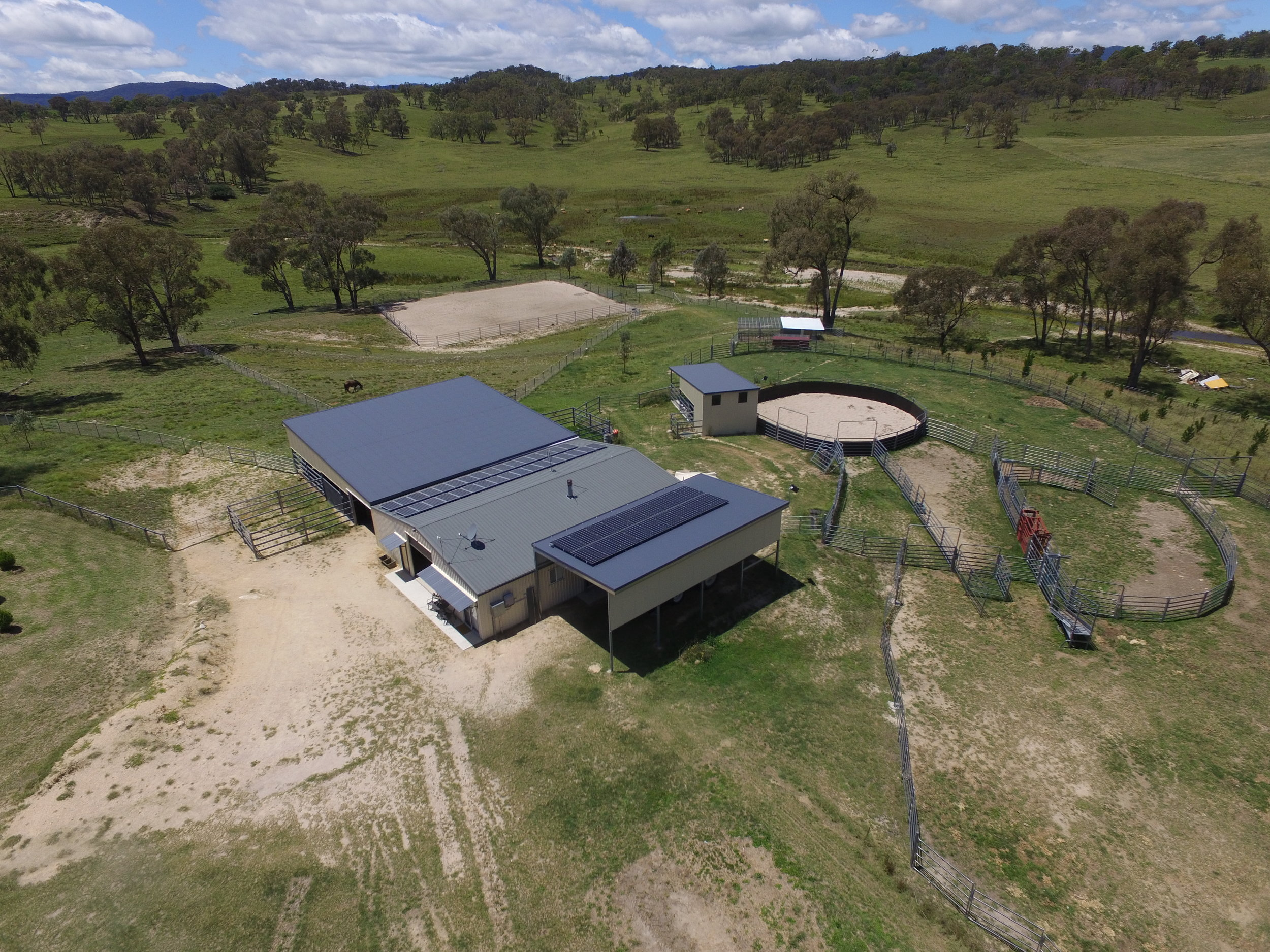 Accomodation and Stable Complex with Yards Round Yard and Arena