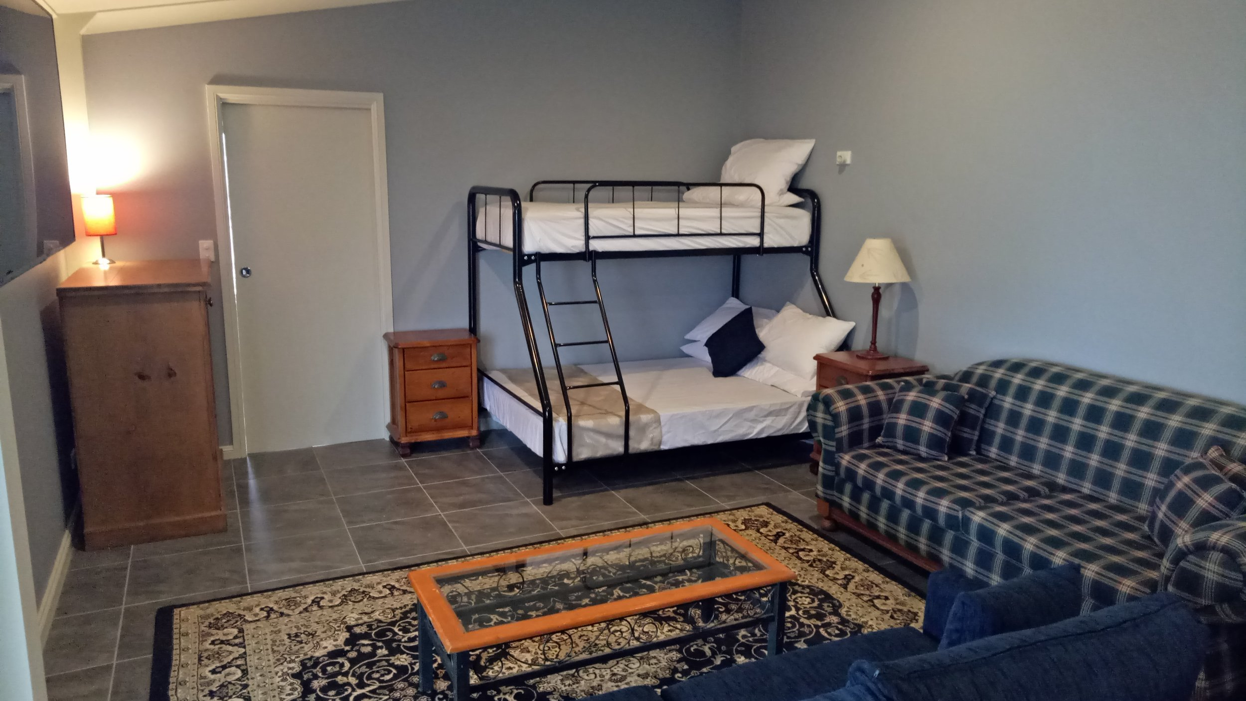 Double and Single Bunk with Sofa Bed