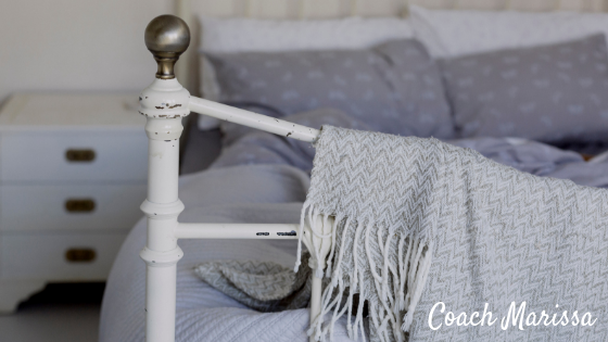 Trouble sleeping? Create a bedroom sanctuary for a restful night of sleep every night! Follow these tips from Coach Marissa and turn your bedroom into a peaceful haven.
