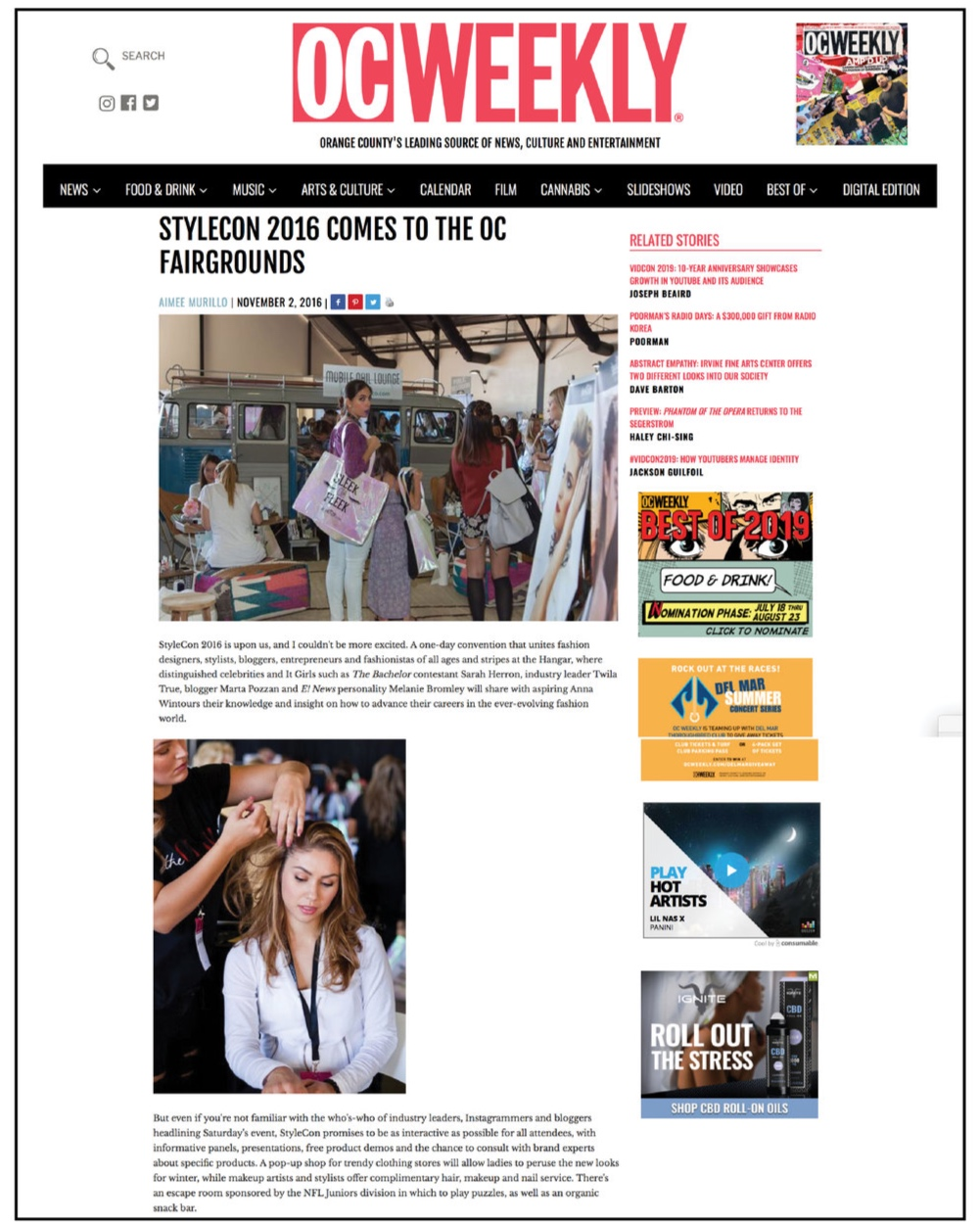OC Weekly,  November 2016  StyleCon 2016 comes to the OC Fairgrounds