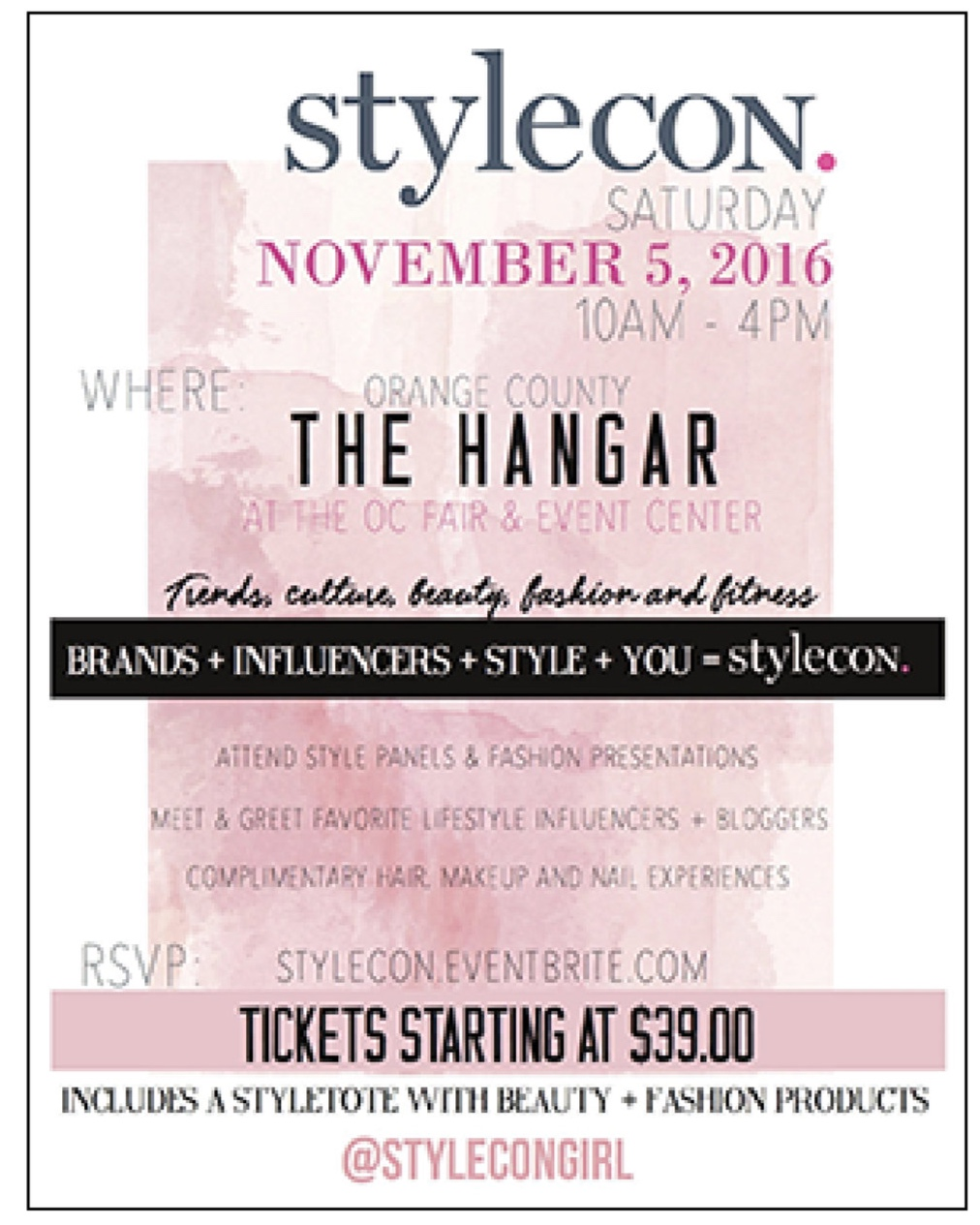Orange Coast Magazine,  August 2016  StyleCon 2016 Set for Nov. 5! Get Your Tickets Now!