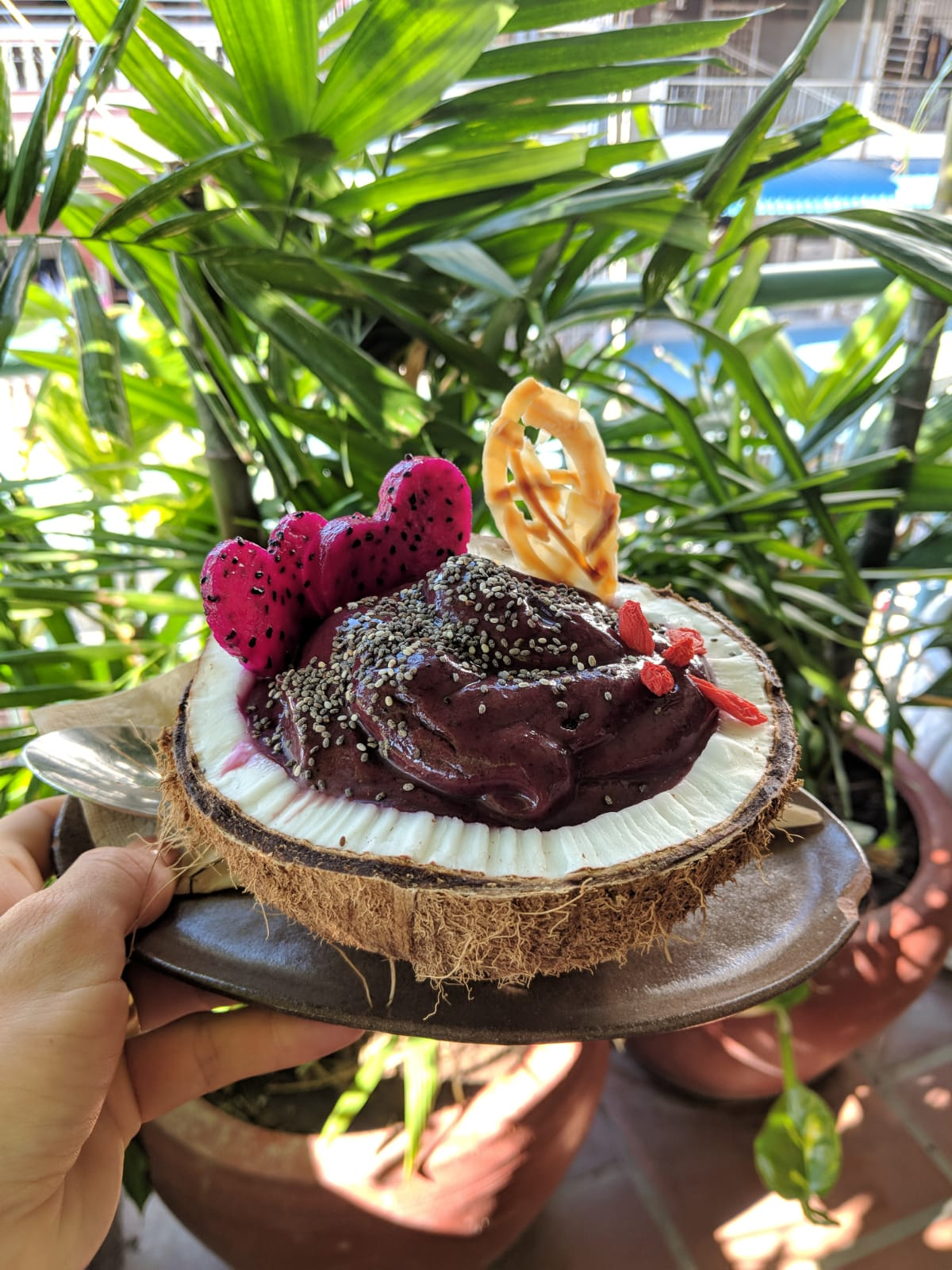 We managed to find Açai in Vietnam while traveling with  Hands on Journeys  at the  Vibe Cafe Asia