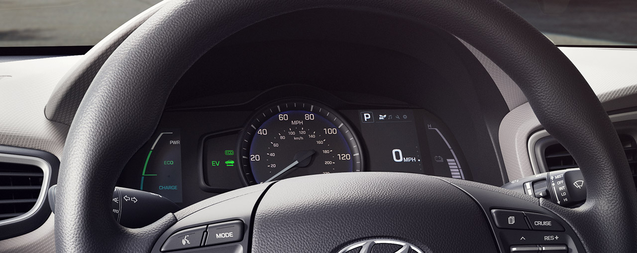 4.2-inch LCD instrument cluster with Hybrid Technology display