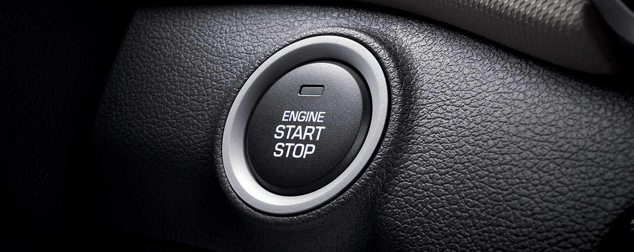 Proximity key entry with push button start. No more fumbling with your car keys.