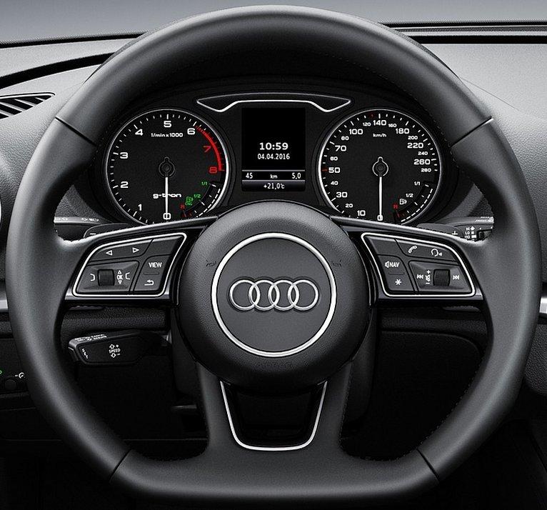 3 – Spoke Leather Trimmed Steering Wheel