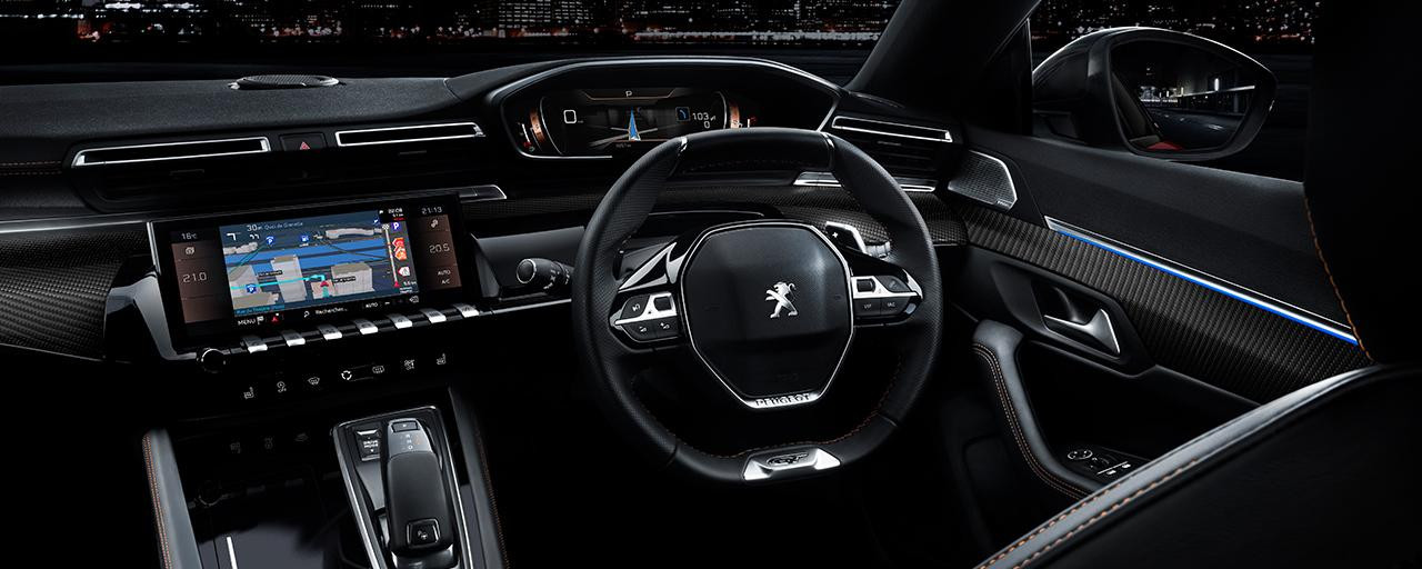 dashboard controls and touchscreen display within easy reach